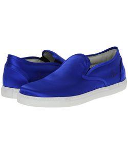 Vivienne Westwood | Silk Slip-On Sneaker Royal Mens Lace Up