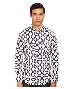 Vivienne Westwood | Anglomania Classic Ranch Shirt Indigo Squiggle Mens Long