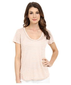 Paige | Lynnea Tee Rose Dust/White Stripe Womens Short Sleeve Pullover
