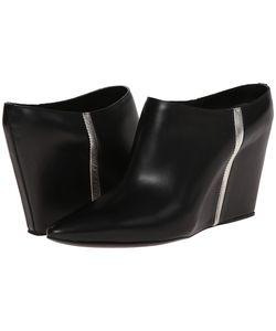 Costume National | Metallic Stripe Mule /Silver Womens Clog/Mule Shoes