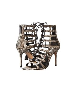 Michael Kors | Bardot Natural Genuine Snake/Smooth Calf High Heels