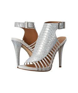 Calvin Klein | Nalani /Platinum White Painted Snake Metallic High Heels