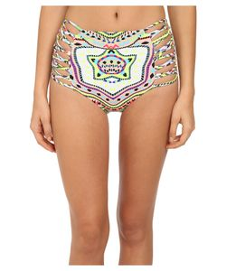 Mara Hoffman   Lattice High-Waisted Bottom Estrada Pink Womens Swimwear