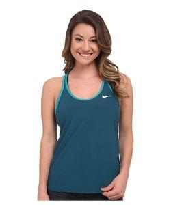Nike | Slam Printed Breathe Tank Top Teal/Radiant Emerald/White Womens Sleeveless