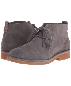 Hush Puppies | Cyra Catelyn Smoke Suede Womens Lace-Up Boots