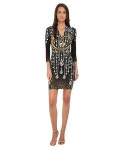 Just Cavalli | Bodycon Printed Knit Dress Black Variant Womens Dress