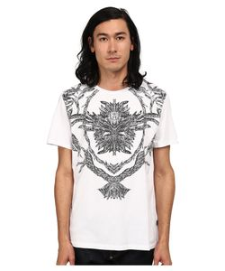 Just Cavalli | Short Sleeve Feather/Flame Graphic Slim Fit Tee