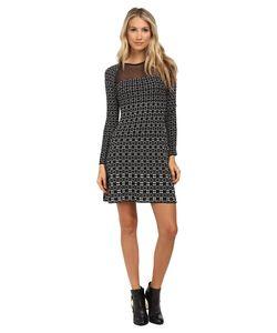 M Missoni | Window Pane Long Sleeve Dress Womens Dress