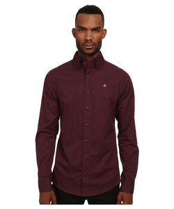 Vivienne Westwood | Stretch Poplin Krall Shirt Bordeaux Mens Clothing