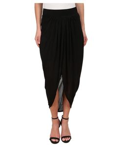 Michael Stars | Micro Modal Draped Front Midi Skirt Womens
