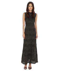 M Missoni | Solid Lurex Sleeveless Maxi Dress Womens Dress