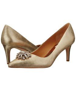 Badgley Mischka | Gardenia Ii Platino Suede High Heels