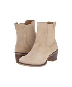 Hush Puppies | Landa Nellie Light Taupe Suede Womens Pull-On Boots