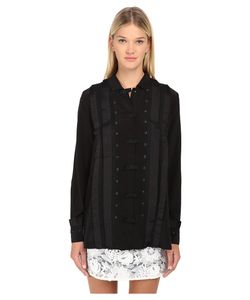 Emma Cook | Silk Tuxedo Shirt Womens Blouse