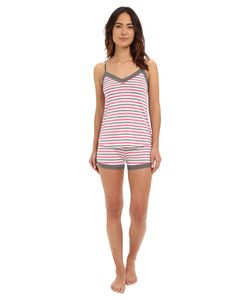P.J. Salvage | Giftables Stripe Sleep Set Heather Grey Womens Pajama