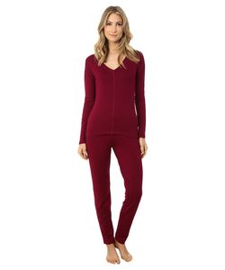 Josie | Brushed Jersey Pj Bordeaux Womens Pajama Sets