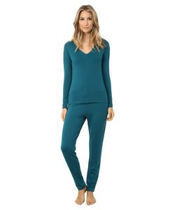 Josie | Brushed Jersey Pj Deep Jade Womens Pajama Sets