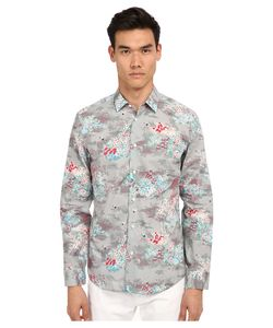 Marc Jacobs | Mellow Meadow Slim Button Up Grey Multi Mens