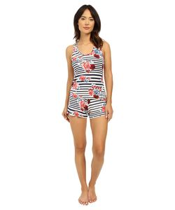 Hanky Panky | Nautical Rose Sleep Set Blue/White Womens Pajama