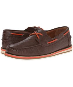 Etro | Paisley Embossed Leather Boat Shoe Mens Shoes