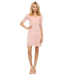 M Missoni | Lurex 3/4 Sleeve Dress Blush Womens Dress