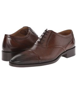 Etro | Mixed Leather Cap Toe Oxford Mens Lace Up