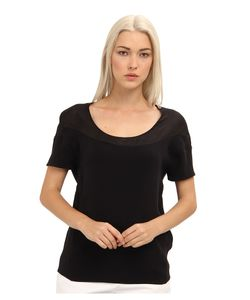 Costume National | Cw0169p Top Nero Womens Short Sleeve Pullover