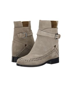 Thakoon Addition | Fiona 02 Grey Suede Studs Womens Pull-On Boots