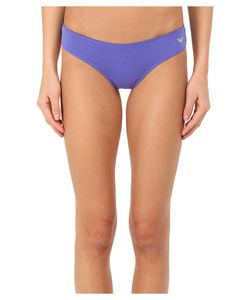 Emporio Armani | Jewel Studded Cotton Stretch Brasilian Brief Iris Womens