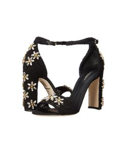 Dolce & Gabbana | Sandalo Pizzo Nero Womens Shoes