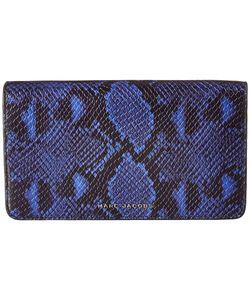 Marc Jacobs | Block Letter Snake Wallet Leather Strap Cobalt Snake
