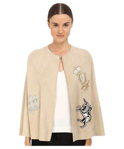 Just Cavalli | Leather Cape Light Camel Womens Clothing