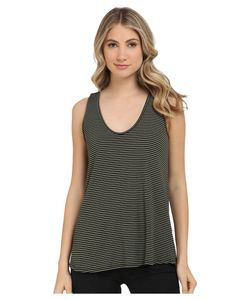Michael Stars | Amalfi Ribbed Stripe Sleeveless Tank Top Moss