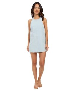 Beach Riot | Faded Indigo Poppy Dress Cover-Up Faded Indigo Womens