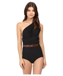 Michael Kors | One-Shoulder Shirred Maillot Womens Swimsuits One Piece
