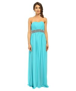 Calvin Klein | Strapless Gown With Sequin At Waist Cd6b2zrz Manganese