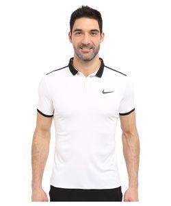 Nike | Court Advantage Solid Tennis Polo /Black/Black Mens Short Sleeve