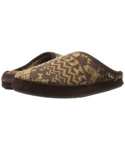 Woolrich | Whitecap Knit Mule Java Snowshoe Sweater Slippers
