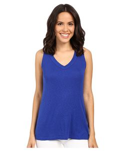 Michael Stars | Slub Vee Neck Tank Top Lapis Womens Sleeveless