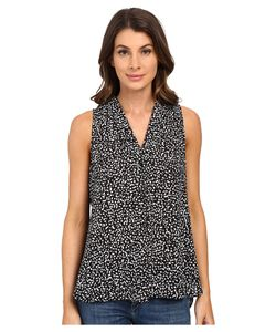 Vince Camuto | Sleeveless Speckle Pop V Blouse W/ Front Pleat
