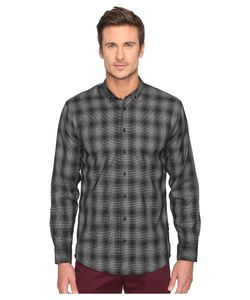 Publish | Kalyb Micro Houndstooth Button Down Long Sleeve
