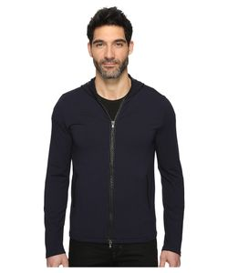 John Varvatos Star USA | John Varvatos Star U.S.A. Long Sleeve Zip-Front Knit Hoodie W/