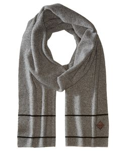 Cole Haan | Stripe Border Muffler Heather Scarves