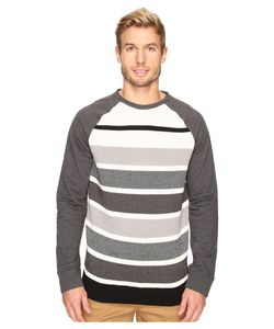 Nautica | Long Sleeve Sweater Front Crew Charcoal Heather Sweater