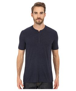 Michael Stars | Short Sleeve Bamboo Henley Nocturnal Mens Clothing