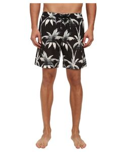 Paul Smith | Palm Tree Classic Swim Trunks /Tan Mens Swimwear