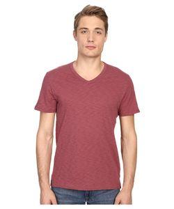 Vince | Refined Slub V-Neck T-Shirt Currant Mens T Shirt