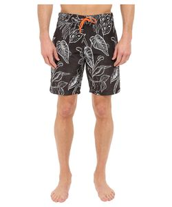 Paul Smith | Botanical Print Surf Swim Shorts Grey Mens Swimwear