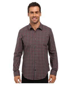Calvin Klein | Long Sleeve Yarn-Dye Poplin Twill Check Woven Shirt