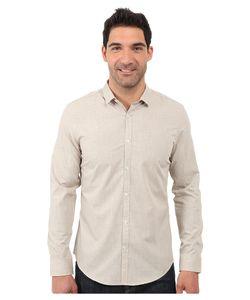Calvin Klein | Long Sleeve Yarn-Dye Heather Woven Shirt Vintage